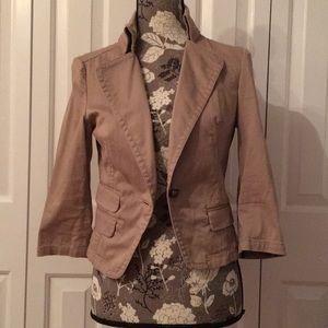 Khaki summer blazer